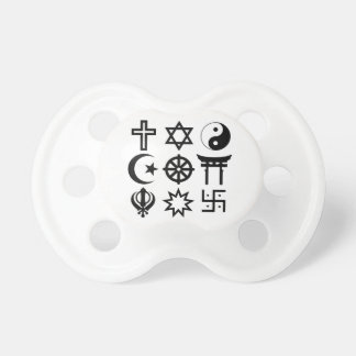 Symetric Religious Symbols Baby Pacifiers