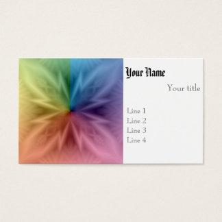 Symetrical Rainbow Business Card