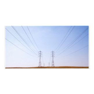 symmetric electricity personalized photo card