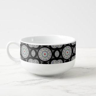 Symmetric Physcedelic Flower Soup Mug
