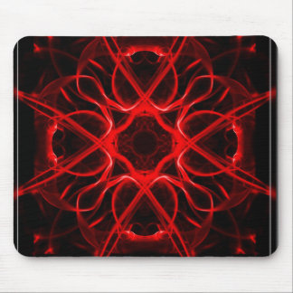 Symmetric, red abstract mouse mat