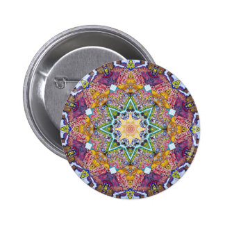 Symmetrical Colors Abstract 6 Cm Round Badge