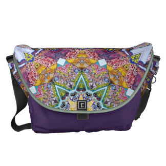 Symmetrical Colors Abstract Commuter Bag