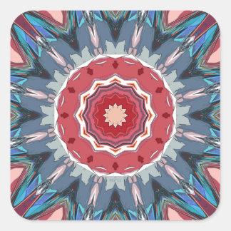 Symmetrical Mandala Graphic Square Sticker