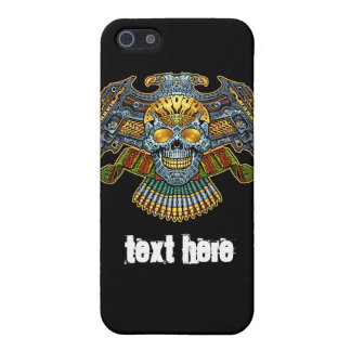 Symmetrical Skull with Guns and Bullets by Al Rio iPhone 5 Covers