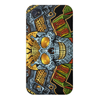 Symmetrical Skull with Guns and Bullets by Al Rio iPhone 4 Cases
