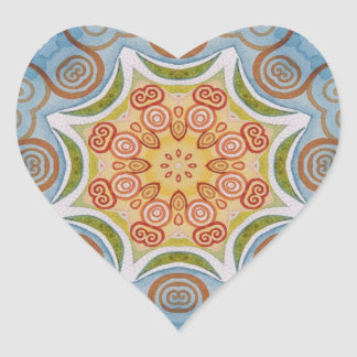 Symmetry design heart sticker