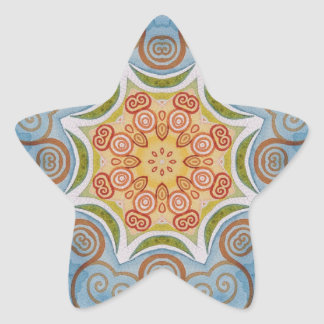 Symmetry design star sticker