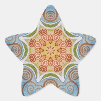 Symmetry design star sticker