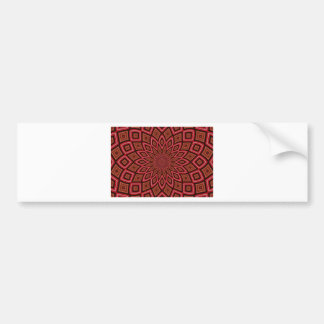 symmetry kaleidoscope red abstract background bumper sticker