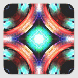 Symmetry of Colors Square Sticker