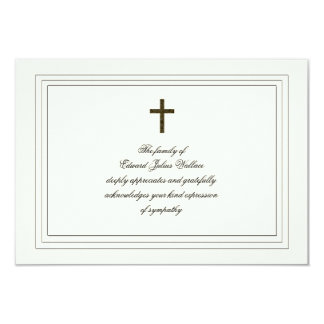 Sympathy Acknowledgement 9 Cm X 13 Cm Invitation Card