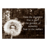 Sympathy and comfort greeting card