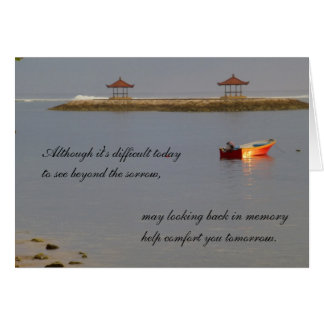 Sympathy card - boat on the water