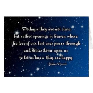 Sympathy card Eskimo proverb - stars