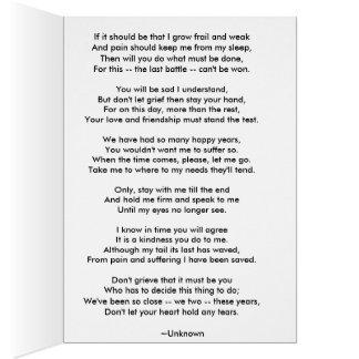 Sympathy card for losing a beloved dog
