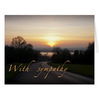 Sympathy Card-large size Big Greeting Card