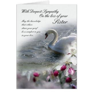 Sympathy card loss of Sister