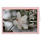 Sympathy Card: Magnolia w Scripture verse on Faith Card