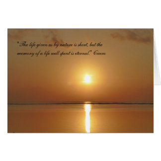 Sympathy Card - Memory is eternal Greeting Cards