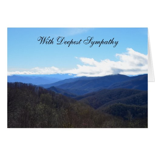 Sympathy Card -- Mountains