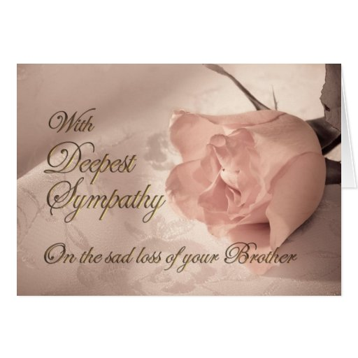 Sympathy Card On The Of A Brother Zazzle