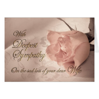 Sympathy card on the death of a wife