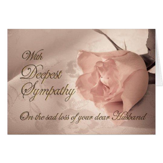 Sympathy card on the death of husband