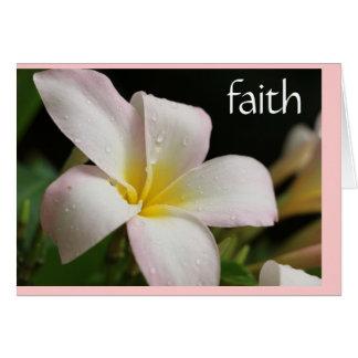 Sympathy Card: Plumeria w Scripture verse on Faith Greeting Card