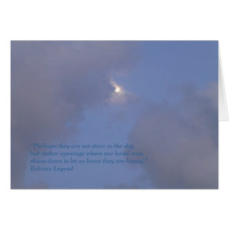 Sympathy Card - stars in the sky Greeting Card
