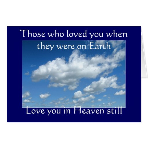 Sympathy card: (Those who loved you)
