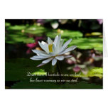 Sympathy Card - Water Lily Card