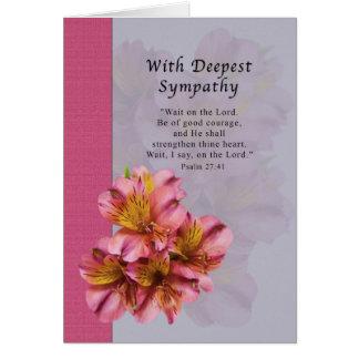 Sympathy, Death, Alstroemeria Flowers,  Card