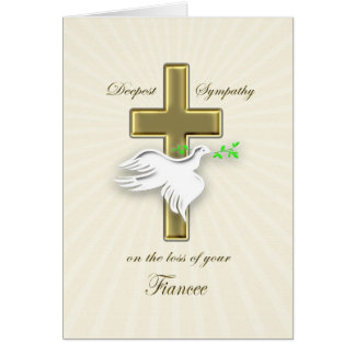 Sympathy for loss of fiancee greeting card
