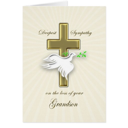 Sympathy for loss of grandson greeting cards
