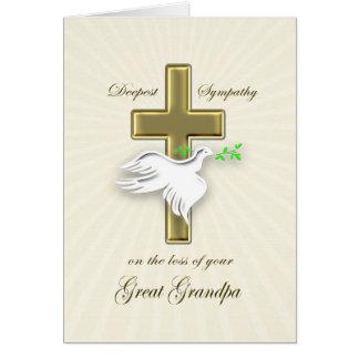 Sympathy for loss of greatgrandpa greeting card