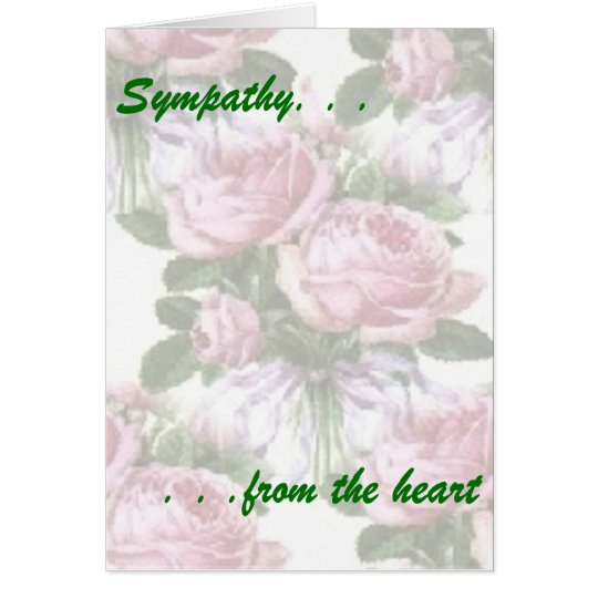 Sympathy From the Heart Card