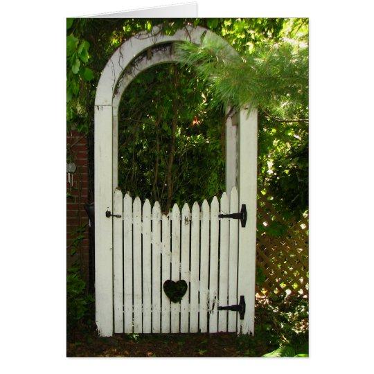 Sympathy Garden Heart Arbor Card
