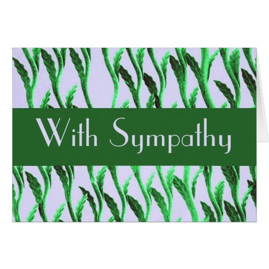 Sympathy green nature pattern card