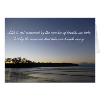 Sympathy Greeting Cards - Moving Quote