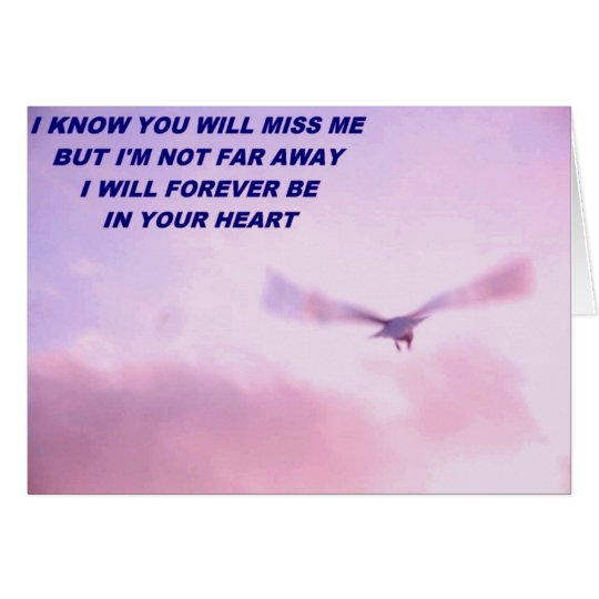 Sympathy, I'll  Miss You_ Card