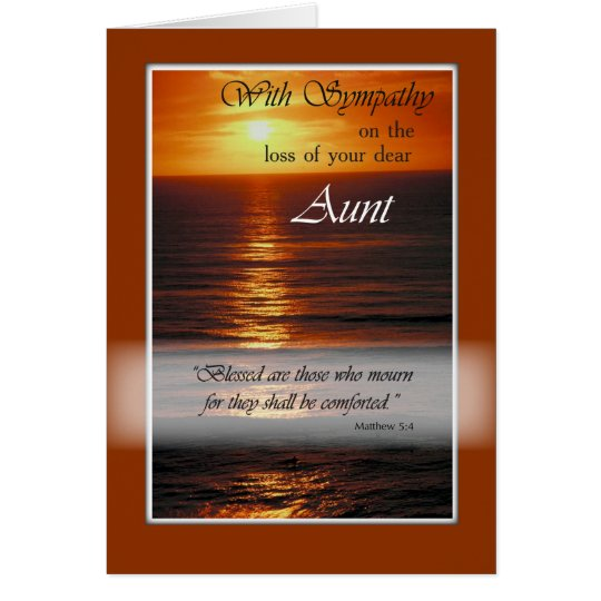 Sympathy Loss of Aunt, Sunset Over Ocean, Relig