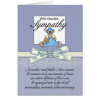 Sympathy Loss Of Premature Baby Boy / Loss Of Infa Greeting Card