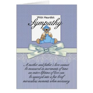 Sympathy Loss Of Premature Baby Boy / Loss Of Infa Greeting Card