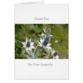 Sympathy/Memorial Thank You note Card Blue Thistle