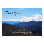 Sympathy Memorial Thank You Note Card -- Mountains
