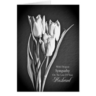 Sympathy on loss of husband. greeting card