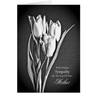 Sympathy on loss of mother. greeting card