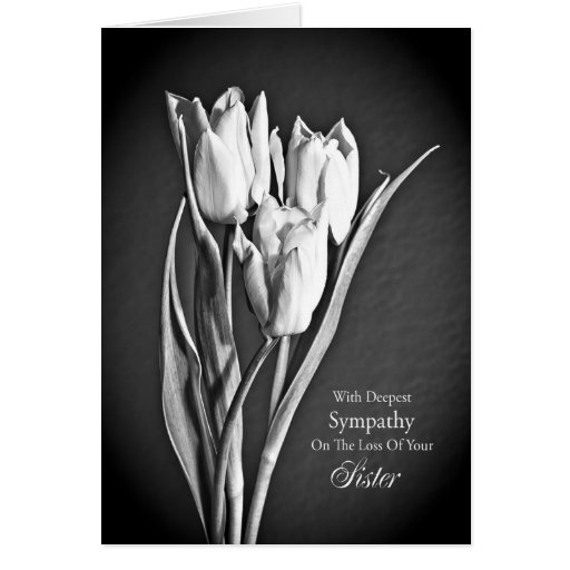 Sympathy on loss of sister. cards
