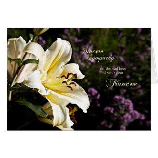 Sympathy on the death of a fiancee. greeting card